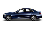 Car driver side profile view of a 2017 Mercedes Benz C Class Base 4 Door Sedan