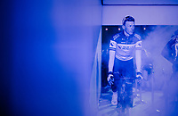 Oliver NAESEN (BEL/AG2R-LaMondiale) in the 'show-tunnel' leading into the 'Kuipke' velodrome where the team presentation takes place<br /> <br /> 74th Omloop Het Nieuwsblad 2019 <br /> Gent to Ninove (BEL): 200km<br /> <br /> ©kramon