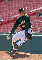 April 21, 2005:  Pitcher Kazuhito Tadano of the Buffalo Bisons during a game at Dunn Tire Park in Buffalo, NY.  Buffalo is the International League Triple-A affiliate of the Cleveland Indians.  Photo by:  Mike Janes/Four Seam Images