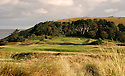 A general view of 9th hole Par 4, St Enodoc Golf Club. A beautiful undulating links course on the North Cornwall coast. Designed by James Braid  (Picture Credit: Phil Inglis)