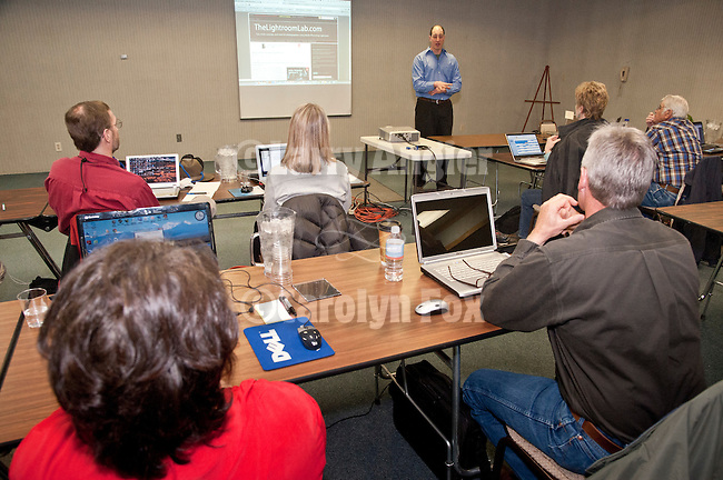 David Marx teaches Adobe Photoshop Lightroom during Shooting the West XXIV, WInnemucca, Nevada