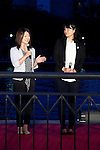 "Tokyo, Japan - (L to R) The track and field athlete Paralympian Mami Sato and the Athens Olympic Gold medalist, Ai Shibata speak at the opening ceremony of Tokyo Hotaru Festival, May 26, 2013. Every year at the Tokyo Hotaru ""Symphony of Light"" (Hikari no Symphony) thousands of lights ""payer stars"" (inori no hoshi) are thrown along to the river. This year in collaboration with Tokyo Sky Tree the organizers also illuminate the tower to support the Tokyo City as a candidate of Olympic 2020. (Photo by Rodrigo Reyes Marin/AFLO).."