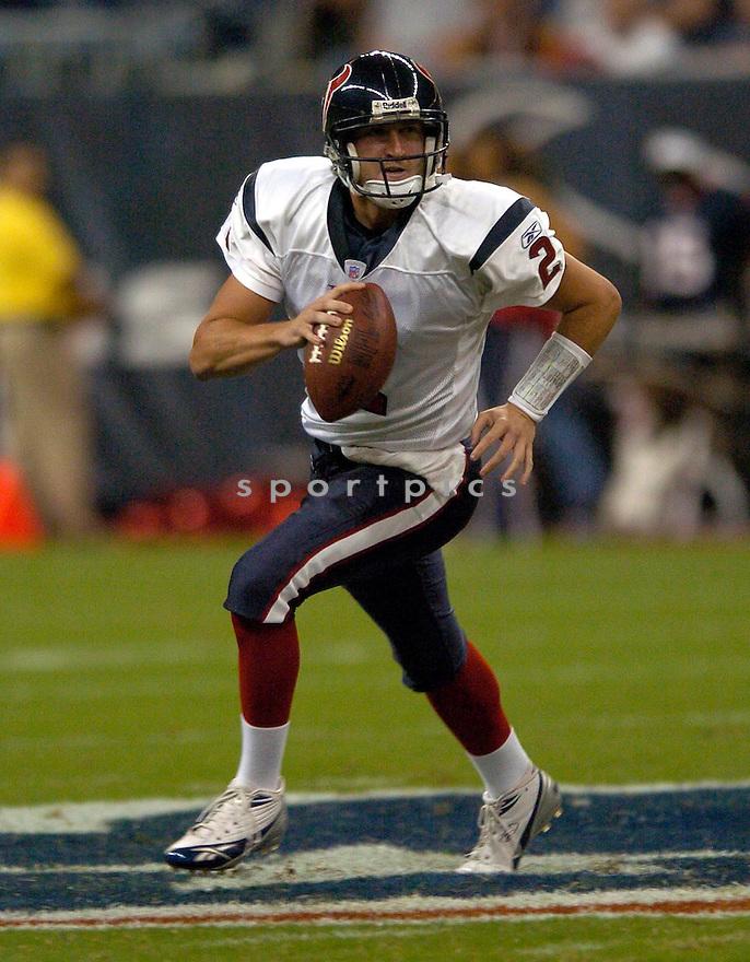 BJ Symons, of the Houston Texans, in action against the Denver Broncos on August 13, 2005...Denver wins 20-14..David Durochik / SportPics