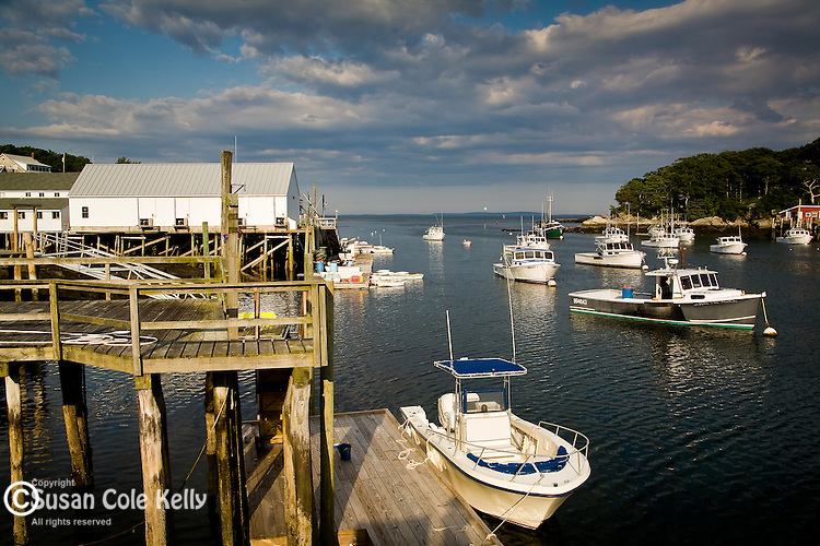 The village of New Harbor, in Bristol, Mid-coast, ME, USA