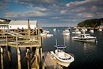 The village of New Harbor, in Bristol, Mid-coast, ME, USA