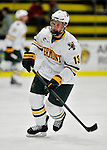 22 November 2011: University of Vermont Catamount forward Brett Bruneteau, a Graduate from Omaha, NB, warms up prior to a game against the University of Massachusetts Minutemen at Gutterson Fieldhouse in Burlington, Vermont. The Catamounts defeated the Minutemen 2-1 in their annual pre-Thanksgiving meeting of the Hockey East season. Mandatory Credit: Ed Wolfstein Photo