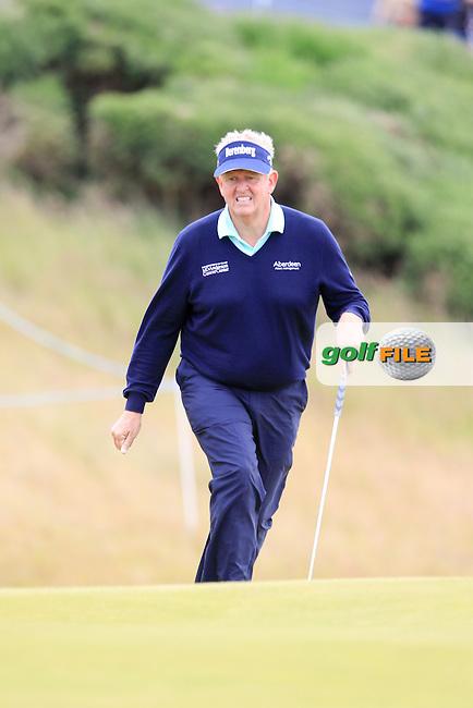 Colin Montgomerie (SCO) during round 2 of the Aberdeen Asset Management Scottish Open 2016, Castle Stuart  Golf links, Inverness, Scotland. 08/07/2016.<br /> Picture Fran Caffrey / Golffile.ie<br /> <br /> All photo usage must carry mandatory copyright credit (&copy; Golffile | Fran Caffrey)