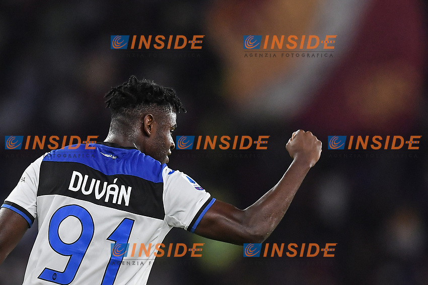 Duvan Zapata of Atalanta celebrating after scores a goal<br /> Roma 25-9-2019 Stadio Olimpico <br /> Football Serie A 2019/2020 <br /> AS Roma - Atalanta Bergamasca Calcio <br /> Foto Antonietta Baldassarre / Insidefoto