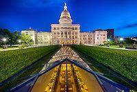 Capitol of Texas at night