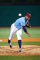 NW Arkansas Naturals pitcher Malcom Culver (25) delivers a pitch during a game against the San Antonio Missions on May 30, 2015 at Arvest Ballpark in Springdale, Arkansas.  San Antonio defeated NW Arkansas 5-2.  (Mike Janes/Four Seam Images)