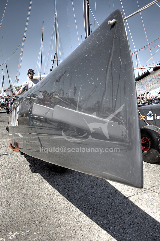 Details of the F18 Cirrus R at the Eurocat 2011, the great catamaran in Carnac, Brittany, France.