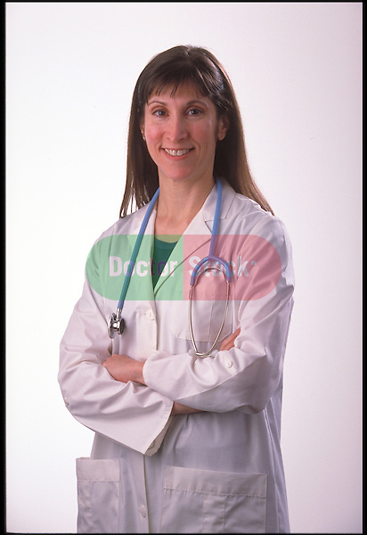 portrait of smiling doctor wearing lab coat and stethoscope
