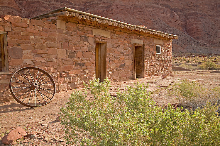 Glen Canyon National Recreation Area, AZ / APR.Though the Lees Ferry Fort was originally built in 1874 as a fortified trading post during a conflict, it was never attacked.