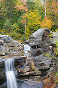 Grafton Notch State Park - Screw Auger Falls during the autumn months in  Newry, Maine USA.
