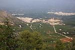 Overview of landscape village Simat de la Valldigna, Valencia province, Spain