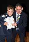 St Johnstone FC Academy Awards Night...06.04.15  Perth Concert Hall<br /> Chairman Steve Brown presents a certificate to Scott Lavelle<br /> Picture by Graeme Hart.<br /> Copyright Perthshire Picture Agency<br /> Tel: 01738 623350  Mobile: 07990 594431