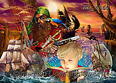 Interlitho-Franco, FANTASY, paintings+++++,pirates,KL4560,#fantasy#, EVERYDAY ,puzzle,puzzles