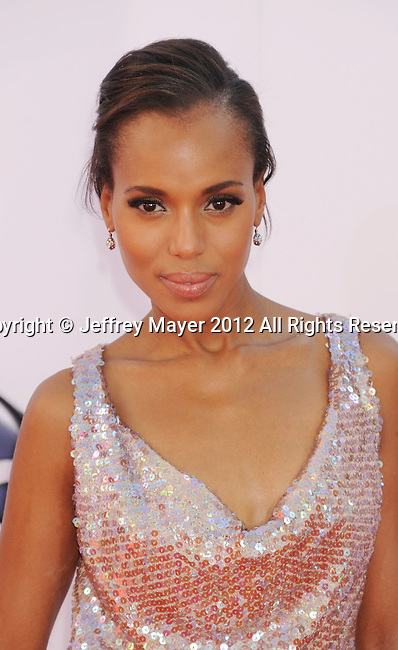 LOS ANGELES, CA - SEPTEMBER 23: Kerry Washington arrives at the 64th Primetime Emmy Awards at Nokia Theatre L.A. Live on September 23, 2012 in Los Angeles, California.