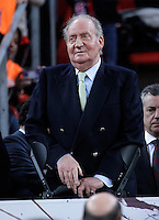 KIng Juan Carlos I of Spain during the Spanish Basketball King's Cup Final match.February 07,2013. (ALTERPHOTOS/Acero)