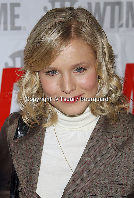 Kristen Bell  arriving at the Showtime Star-Studded tca Press Tour stage 6 on Universal Studio Lot in Los Angeles. january 112, 2005.