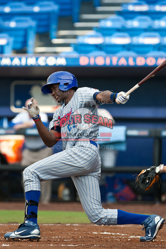Abner Abreu #21 of the Daytona Cubs during game 3 of the Florida State League Championship Series against the St. Lucie Mets at Digital Domain Park on Spetember 11, 2011 in Port St. Lucie, Florida. Daytona won the game 4-2 to win the Florida State League Championship.  Photo by Scott Jontes / Four Seam Images