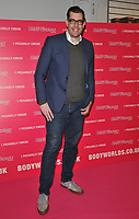 Richard Osman at the Bodyworlds human anatomy exhibition VIP launch, The London Pavilion, Piccadilly Institute, London, England, UK, on Thursday 04 October 2018.<br /> CAP/CAN<br /> &copy;CAN/Capital Pictures