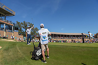 Sean O'Hair (USA) sinks a long birdie putt from off the green on 18 during Round 4 of the Valero Texas Open, AT&amp;T Oaks Course, TPC San Antonio, San Antonio, Texas, USA. 4/22/2018.<br /> Picture: Golffile | Ken Murray<br /> <br /> <br /> All photo usage must carry mandatory copyright credit (&copy; Golffile | Ken Murray)