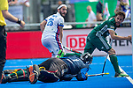 Krefeld, Germany, May 19: During the Final4 Gold Medal fieldhockey match between Uhlenhorst Muelheim and Mannheimer HC on May 19, 2019 at Gerd-Wellen Hockeyanlage in Krefeld, Germany. (worldsportpics Copyright Dirk Markgraf) *** Guido Barreiros #26 of Mannheimer HC