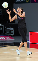 22.09.2018 Silver Ferns Maria Folau in action during Silver Ferns training in Melbourne. Mandatory Photo Credit ©Michael Bradley.