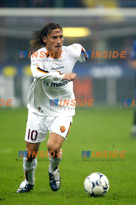 Milano 26/10/2003 <br /> Inter Roma 0-0 <br /> Francesco Totti (Roma) <br /> Foto Andrea Staccioli / Insidefoto