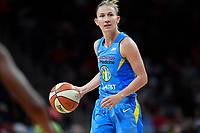 Washington, DC - September 8, 2019: Chicago Sky guard Courtney Vandersloot (22) brings the ball up court during game between the Chicago Sky and Washington Mystics at the Entertainment and Sports Arena in Washington, DC. The Mystics locked up the #1 seed in the Playoffs by defeating the Sky 100-86. (Photo by Phil Peters/Media Images International)