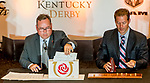 LOUISVILLE, KENTUCKY - APRIL 30: Scenes from the Post Position Draw for the 145th Kentucky Derby at Churchill Downs in Louisville, Kentucky on April 30, 2019. Scott Serio/Eclipse Sportswire/CSM