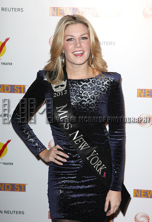 Mallory Hagan, Miss NY 2012 attending the New 42nd Street Gala at The New Victory Theater in New York City on December 5, 2012