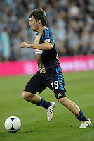 Union's Antoine Hoppenot in action..Sporting Kansas City defeated Philadelphia Union 2-1 at LIVESTRONG Sporting Park, Kansas City, KS.