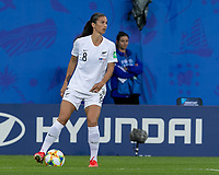 GRENOBLE, FRANCE - JUNE 15: Abby Erceg #8 of the New Zealand National Team looks to pass during a game between New Zealand and Canada at Stade des Alpes on June 15, 2019 in Grenoble, France.