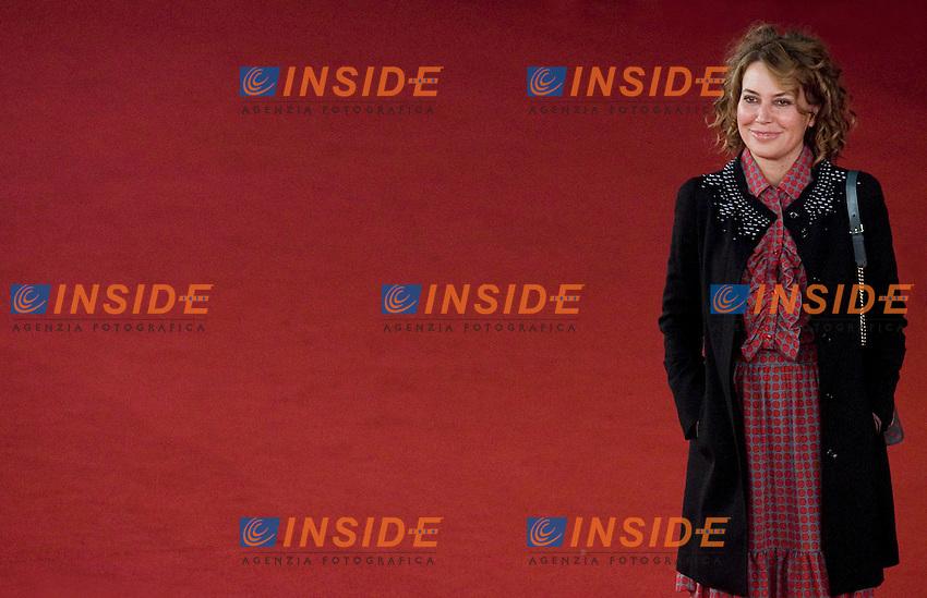 Sabina Guzzanti.FESTIVAL INTERNAZIONALE DEL CINEMA DI ROMA. .ROMA CINEMA FEST. .Franca la prima    Red Carpet.Roma, 31 Ottobre 2011 .Photo Serena Cremaschi Insidefoto