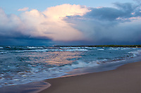 Mid-September storm clouds moving over Lake Superior. Marquette, MI