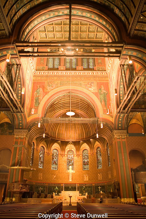 Trinity Church interior, Copley Sq., Boston, MA (H.H.Richardson, architect)