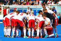 England players before the start  during the Hockey World League Semi-Final Pool A match between England and Malaysia at the Olympic Park, London, England on 17 June 2017. Photo by Steve McCarthy.