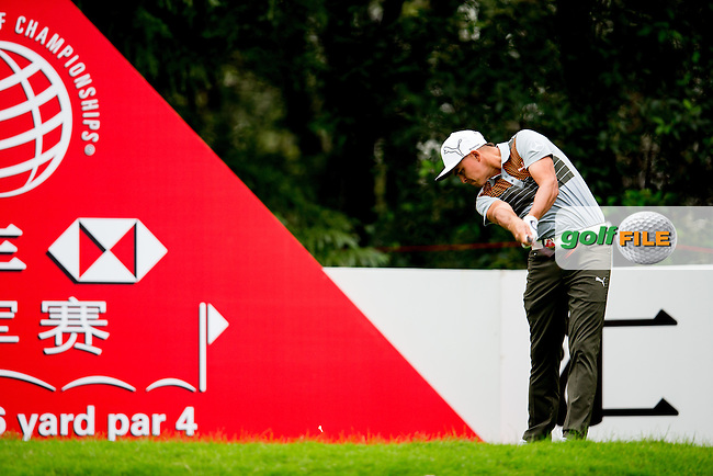 Rickie Fowler (USA) on the 11th during the 1st round f the WGC-HSBC Champions, Sheshan International GC, Shanghai, China PR.  27/10/2016<br /> Picture: Golffile | Fran Caffrey<br /> <br /> <br /> All photo usage must carry mandatory copyright credit (&copy; Golffile | Fran Caffrey)