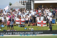24th November 2019; Mt Maunganui, New Zealand;  Englands Barmy Army during play on day 4 of the 1st international cricket test match, New Zealand versus England at Bay Oval, Mt Maunganui, New Zealand.  - Editorial Use