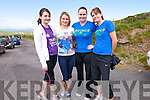 Nuala, Michelle, Sheila and Maureen O'Connor. from Knocknagoshel, at the start of the Mount Brandon Pilgrimage on Sunday.