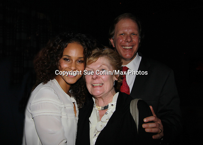 Broadway's Stick Fly - Alicia Keys and at the after party for the last performance at 48 Lounge, New York City, New York.  (Photo by Sue Coflin/Max Photos)