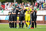 20.07.2019, Heinz Detmar Stadion, Lohne, Interwetten Cup VfL Osnabrück vs SV Werder Bremen<br /> <br /> im Bild / picture shows <br /> <br /> Mannschaftskreis vor dem ersten Spiel mit Stefanos Kapino (Werder Bremen #27)<br /> Martin Harnik (Werder Bremen #09)<br /> Johannes Eggestein (Werder Bremen #24)<br /> Claudio Pizarro (Werder Bremen #14)<br /> <br /> Foto © nordphoto / Kokenge