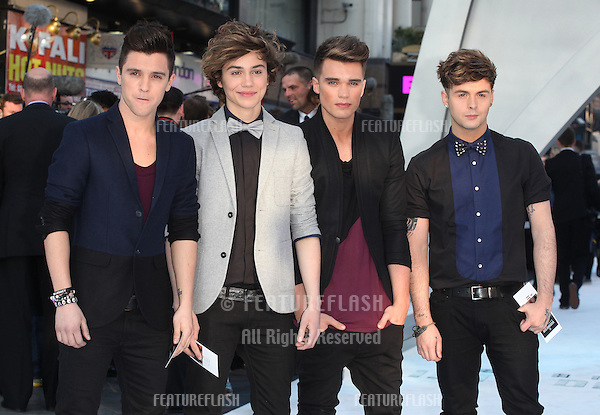 Union J arriving for the UK premiere of 'Star Trek Into Darkness' at The Empire Cinema, London. 02/05/2013 Picture by: Alexandra Glen / Featureflash