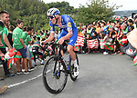 Philippe Gilbert (BEL) Deceuninck-Quick Step attacks on the final climb during Stage 12 of La Vuelta 2019 running 171.4km from Circuito de Navarra to Bilbao, Spain. 5th September 2019.<br /> Picture: Colin Flockton | Cyclefile<br /> <br /> All photos usage must carry mandatory copyright credit (© Cyclefile | Colin Flockton)