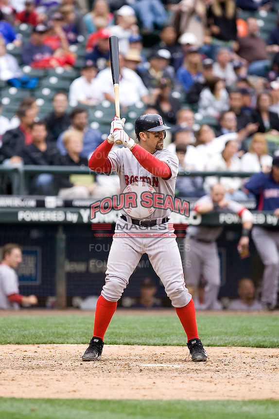 July 23, 2008:  The Boston Red Sox's Jason Varitek at-bat during a game against the Seattle Mariners at Safeco Field in Seattle, Washington.