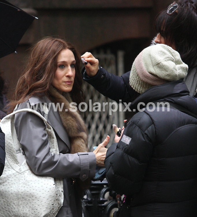 **ALL ROUND PICTURES FROM SOLARPIX.COM**.**SYNDICATION RIGHTS FOR UK, SPAIN, PORTUGAL, AUSTRALIA, S.AFRICA & DUBAI (U.A.E) ONLY**.Sex and the City: The Movie - Filming On Location - New York, USA, November 16, 2007...This pic: Sarah Jessica Parker..JOB REF: 5347 PHZ    DATE: 16_11_2007.**MUST CREDIT SOLARPIX.COM OR DOUBLE FEE WILL BE CHARGED* *UNDER NO CIRCUMSTANCES IS THIS IMAGE TO BE REPRODUCED FOR ANY ONLINE EDITION WITHOUT PRIOR PERMISSION*