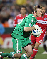 Andrew Dykstra #40 of the Chicago Fire during an MLS match against D.C. United on April 17 2010, at RFK Stadium in Washington D.C. Fire won 2-0.