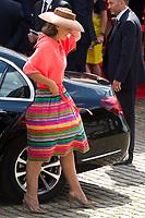 Le Roi Philippe de Belgique, la Reine Mathilde de Belgique, la princesse Elisabeth, le prince Gabriel, le prince Emmanuel et la princesse El&eacute;onore, le prince Laurent de Belgique, la Princesse Claire de Belgique, la princesse Astrid de Belgique et le prince Lorenz de Belgique assistent au d&eacute;fil&eacute; militaire, &agrave; l'occasion de la f&ecirc;te Nationale belge.<br /> Belgique, Bruxelles, 21 juillet 2017<br /> King Philippe of Belgium, Queen Mathilde of Belgium and their children Princess Eleonore, Prince Gabriel , Crown Princess Elisabeth Prince Emmanuel and Prince Laurent of Belgium, Princess Claire of Belgium, Princess Astrid of Belgium, Prince Lorenz of Belgium  pictured  during the military parade on the Belgian National Day, in Brussels.<br /> Belgium, Brussels, 21 July 2017<br /> Pic : Princess Claire of Belgium